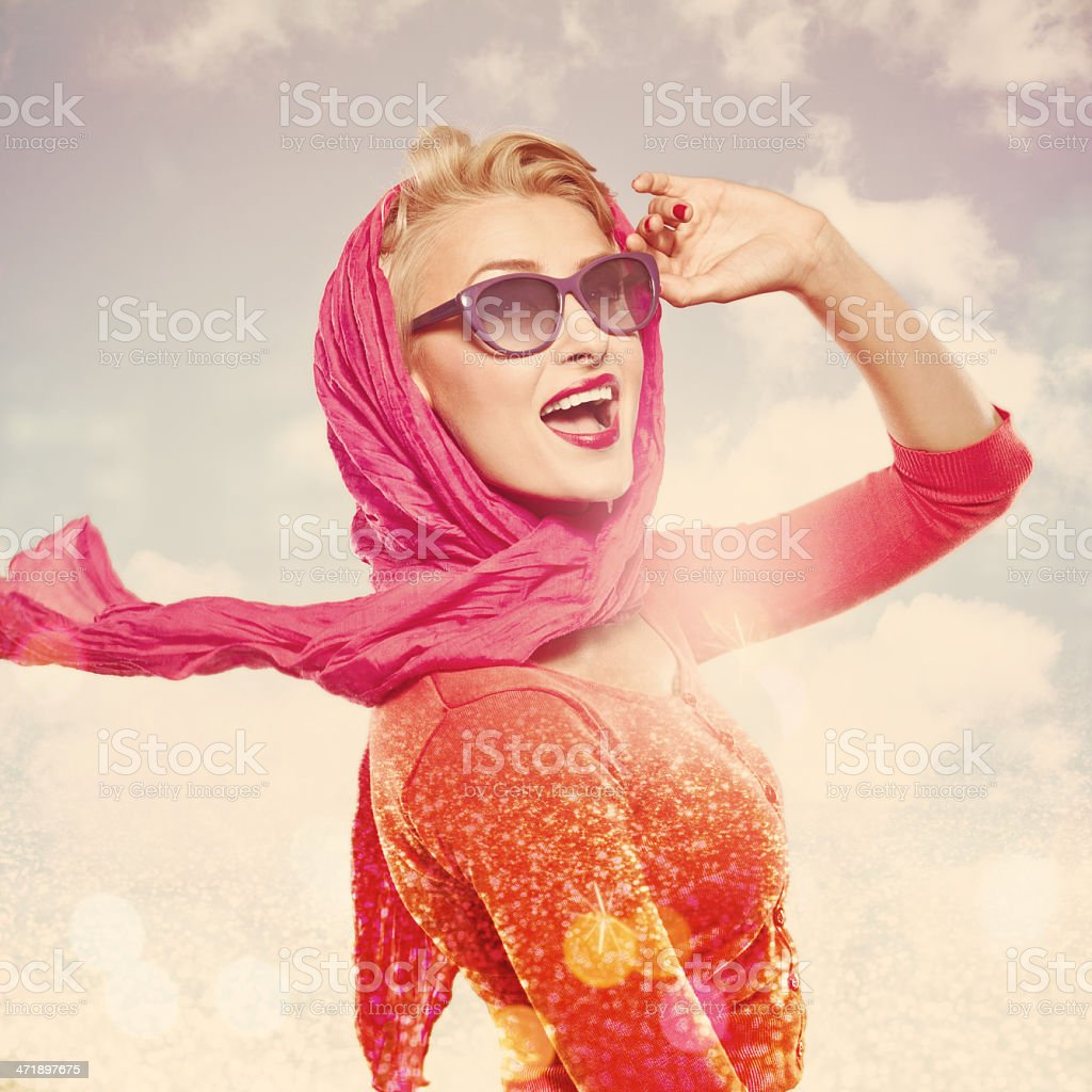 Summer Woman, Glamour Portrait stock photo