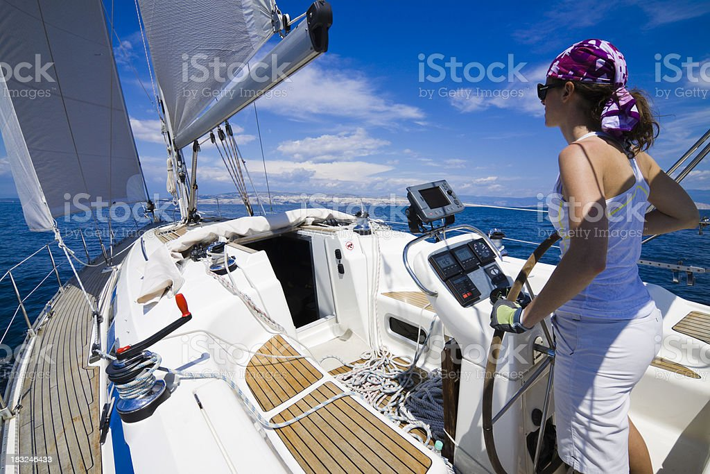 summer yachting royalty-free stock photo