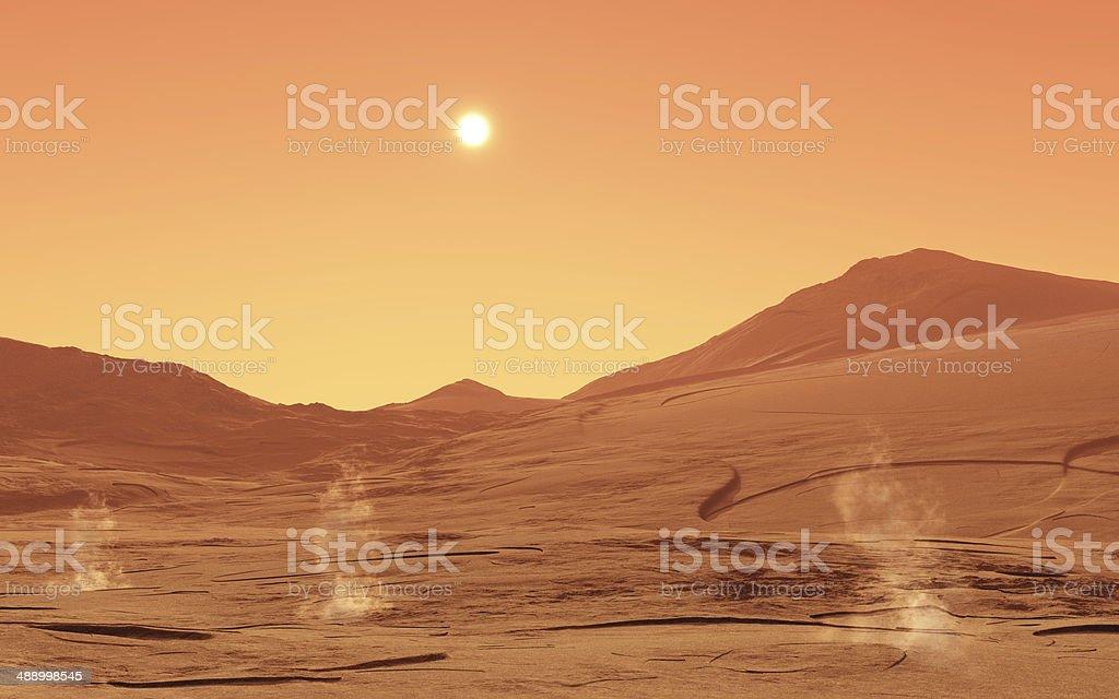 Summerday from Mars stock photo