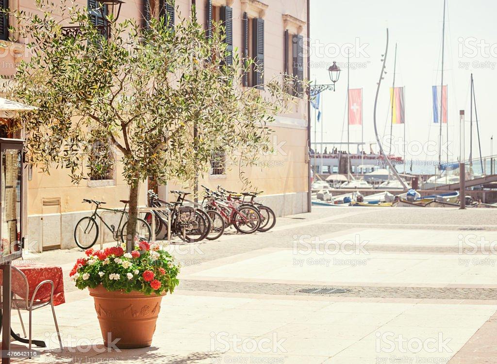 Summerday in Bardolino stock photo
