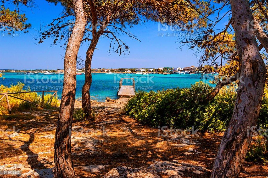 SUMMER.Ionian coast of Salento:Porto Cesareo (Lecce).- ITALY (Apulia) - stock photo