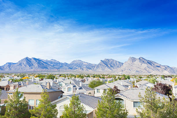 Summerlin - Las Vegas A view of Summerlin in Las Vegas. Summerlin is an affluent 22,500-acre master-planned community in the Las Vegas Valley. Nevada is a state in the Western, Mountain West, and Southwestern regions of the United States. nevada stock pictures, royalty-free photos & images