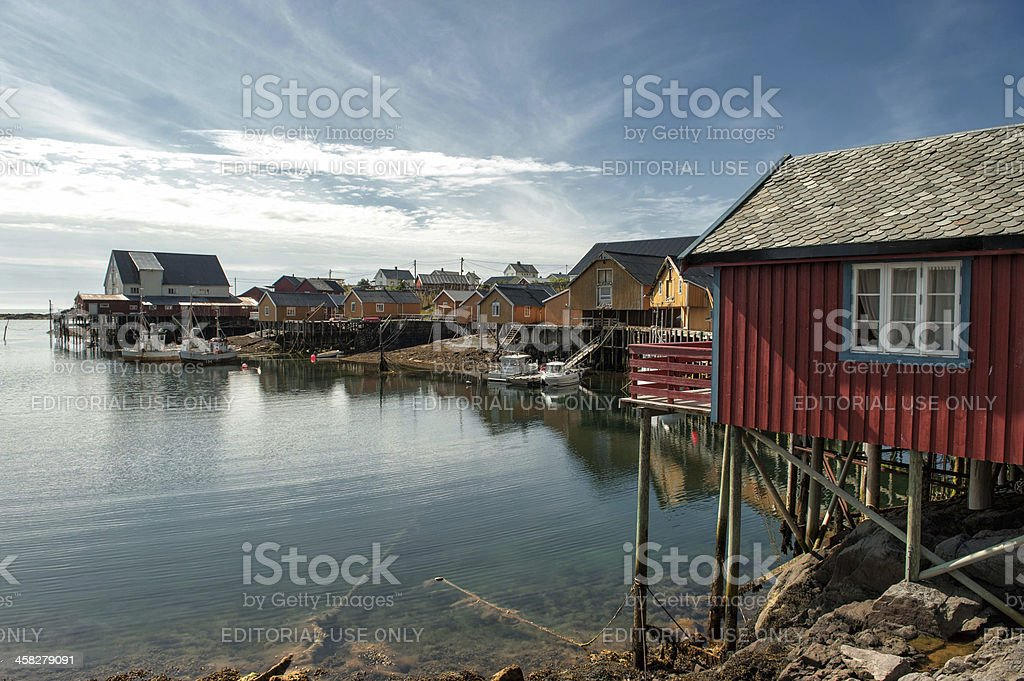 Summer's day at Tind in northern Norway stock photo