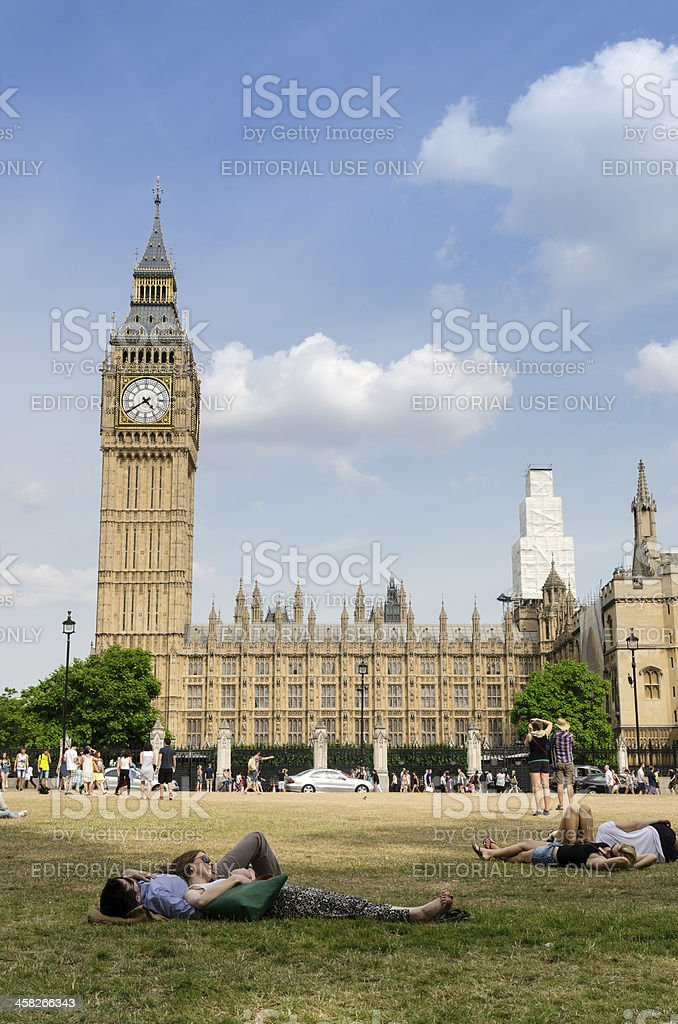 Summer's day in London royalty-free stock photo