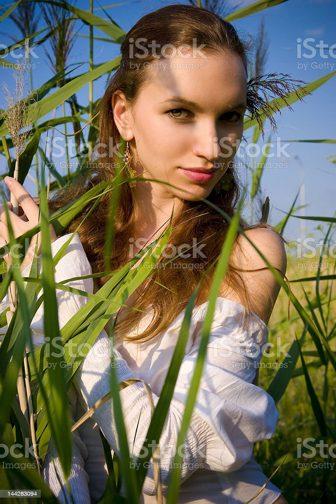 Summers portrait of the girl royalty-free stock photo