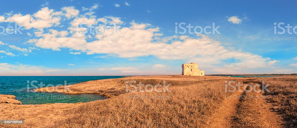 SUMMER.Salento coast: a nature reserve of Torre Guaceto.BRINDISI (Apulia)-ITALY- stock photo