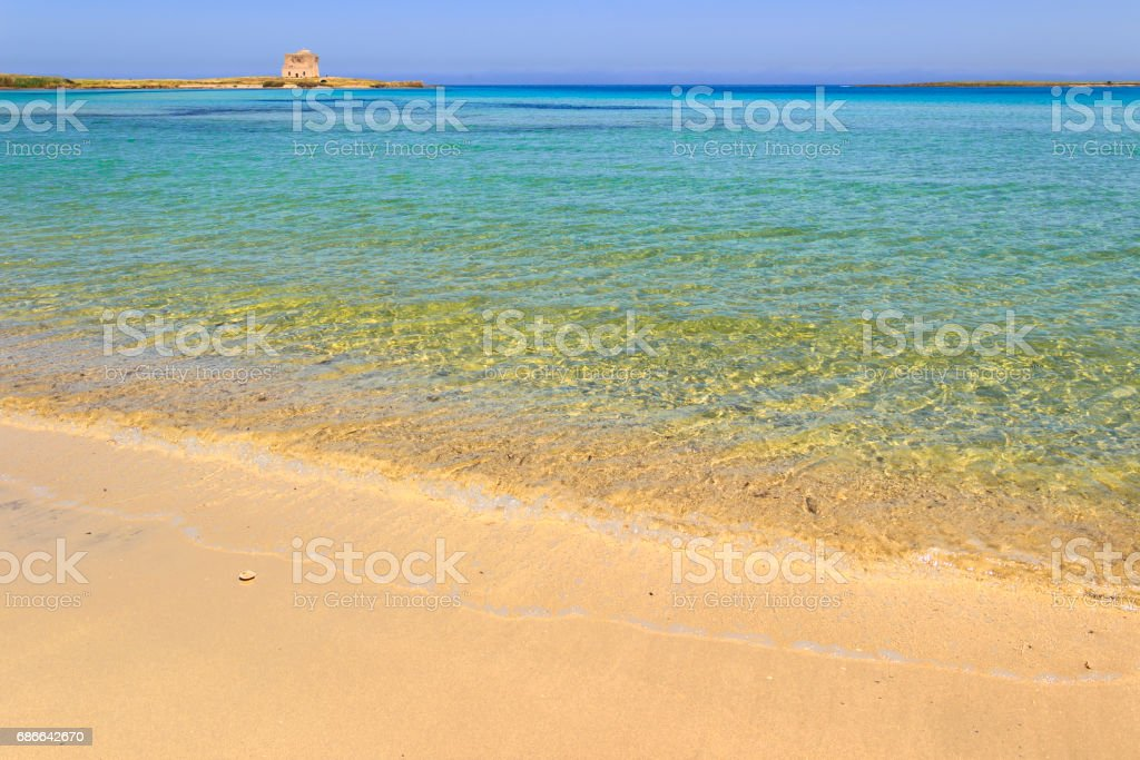 Summertime beach: Torre Guaceto Nature Reserve  (Apulia)-ITALY- royalty-free stock photo