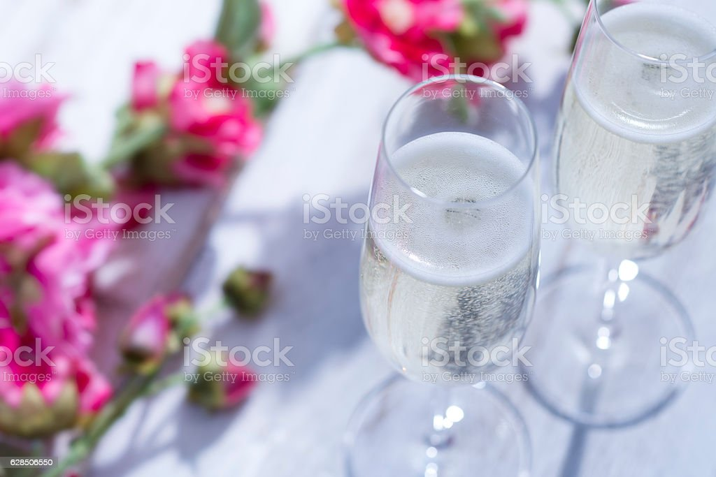 Summertime Champagne stock photo
