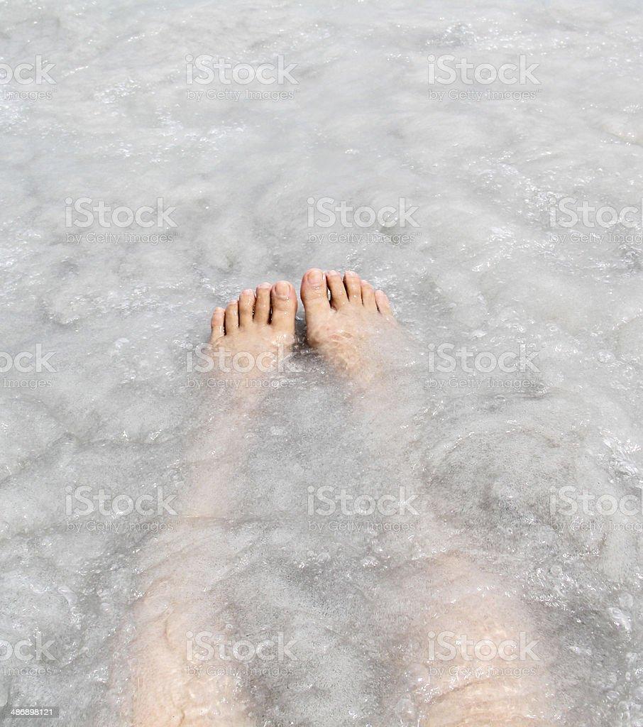 Summertime for feet stock photo