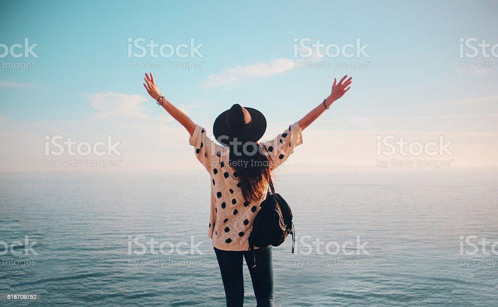 Summertime happiness stock photo