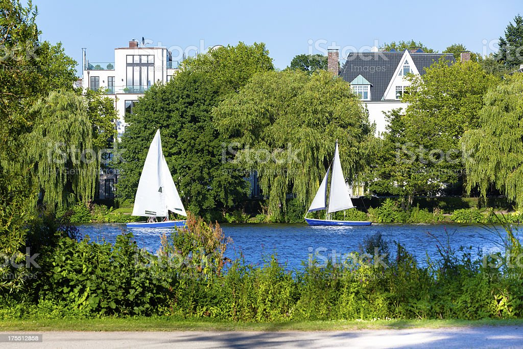 Summertime in Hamburg stock photo