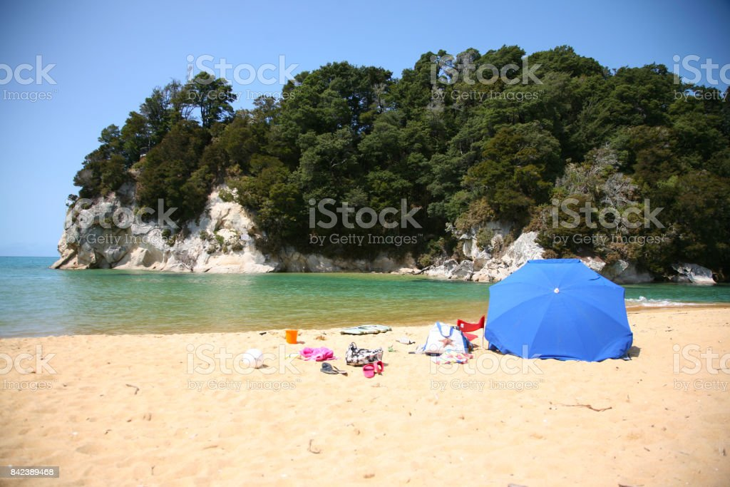 Summertime in Kaiteriteri stock photo