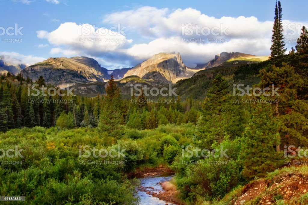 Summertime in Rocky Mountain national Park Colorado stock photo