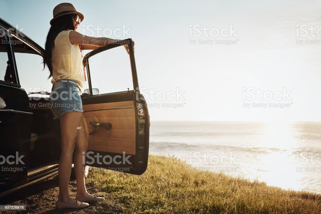 Summertime is road trip time stock photo