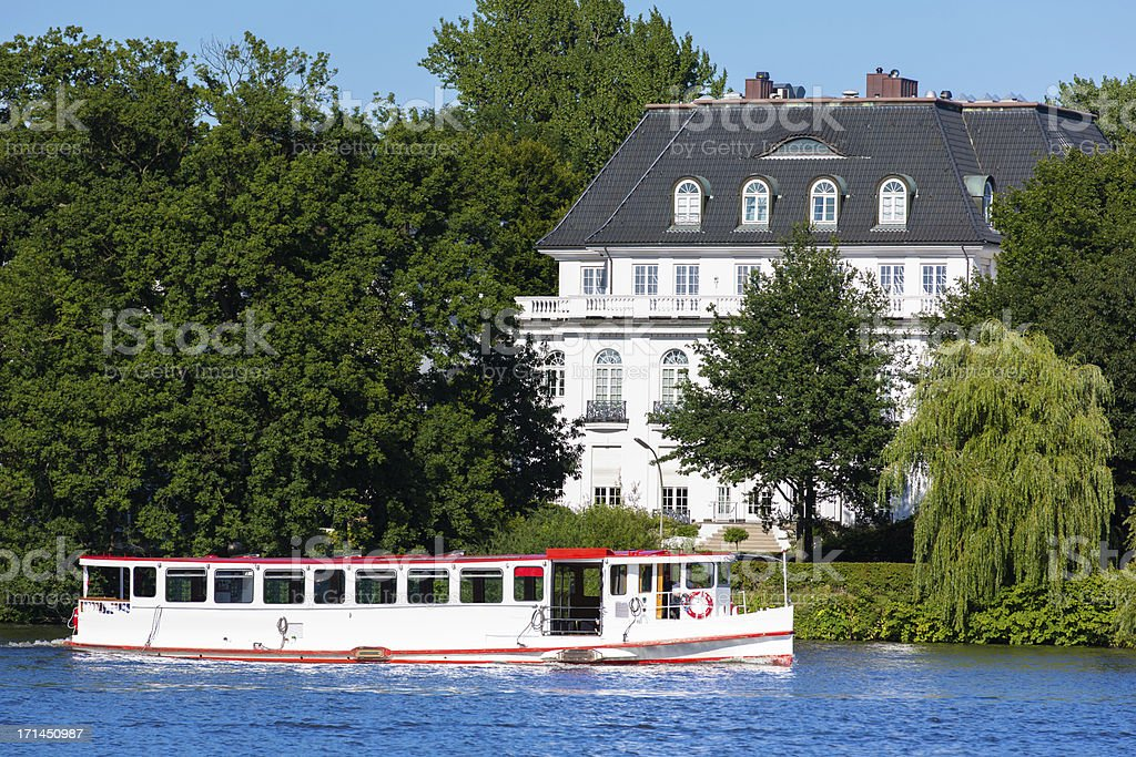 Summertime on the Alster stock photo