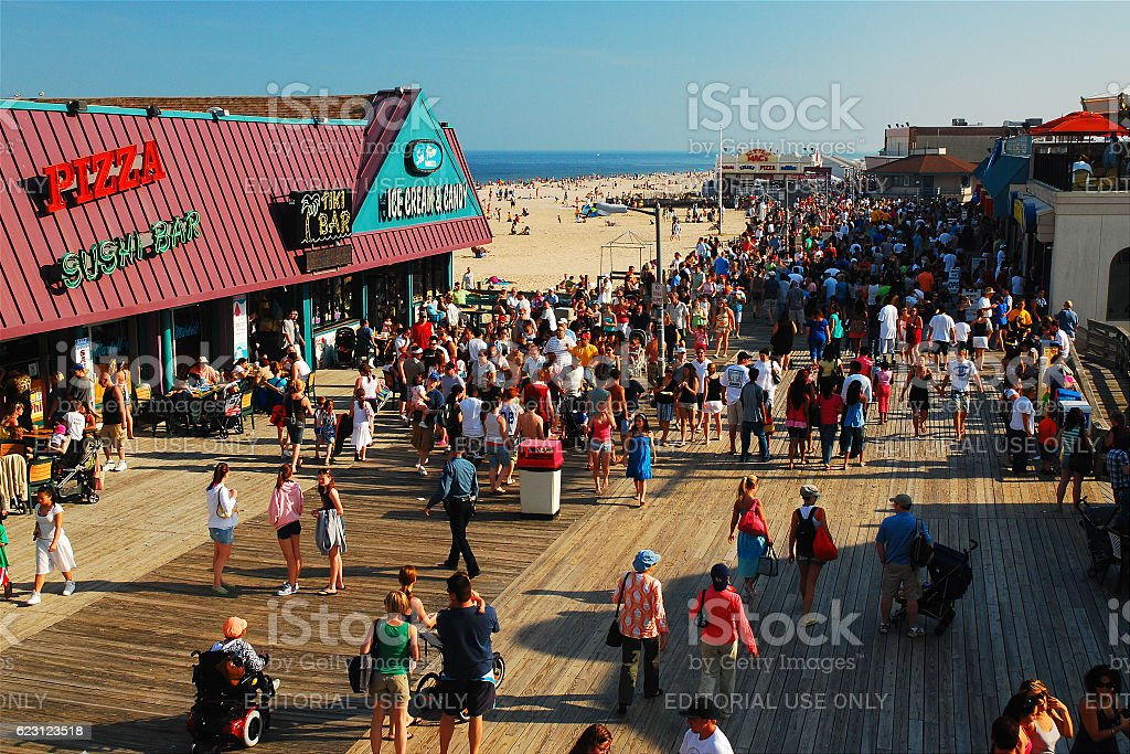 Summertime on the Boardwalk stock photo