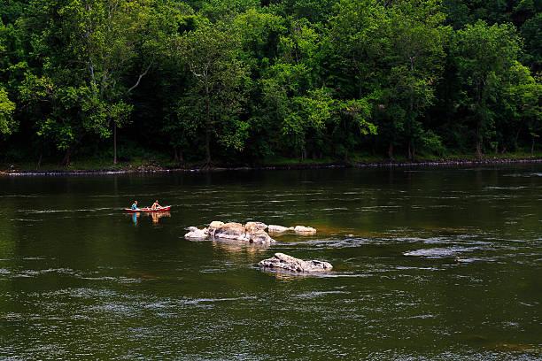 Summertime on the Delaware River Easton Pa stock photo