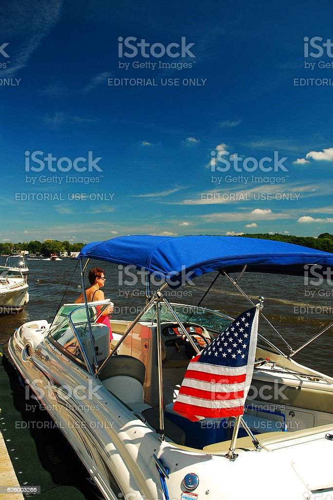 Summertime on the Lake stock photo