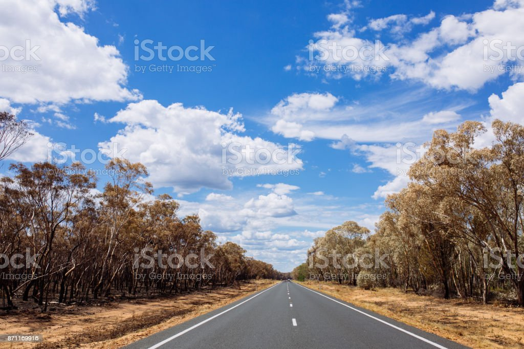 Summertime on the open highway between New South Wales, Australia