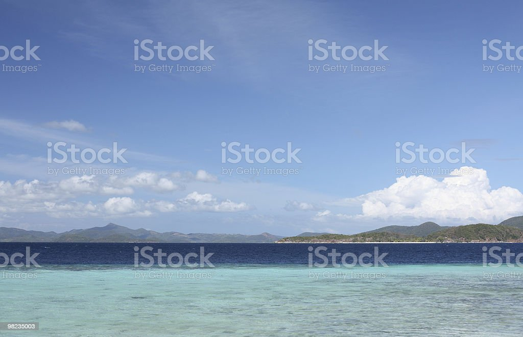 Summertime on tropical beach royalty-free stock photo