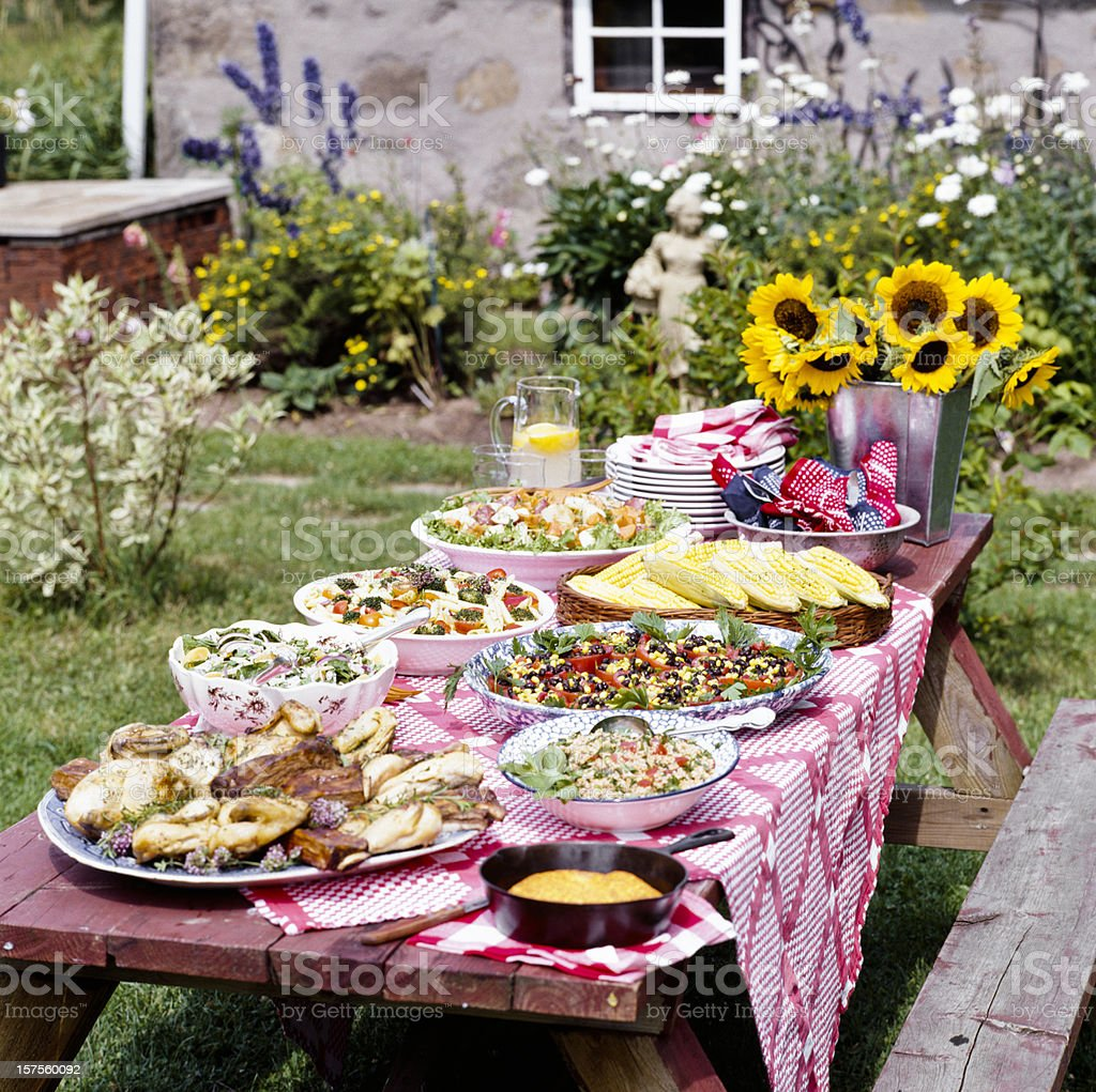 Summertime outdoor picnic. royalty-free stock photo