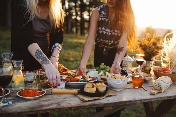 Summertime picnic stock photo