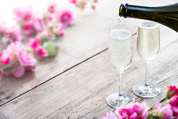 Summertime Prosecco stock photo
