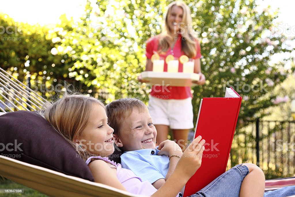 Summertime Reading royalty-free stock photo