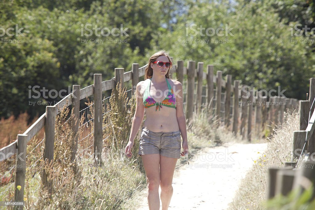 Summertime Stroll royalty-free stock photo