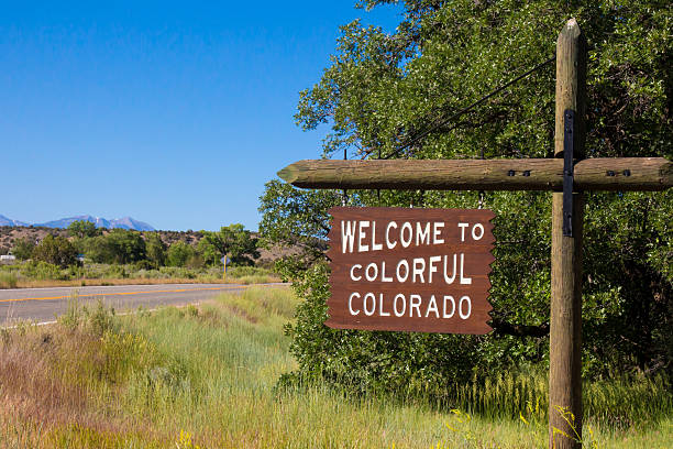 Summertime Welcome to Colorful Colorado sign