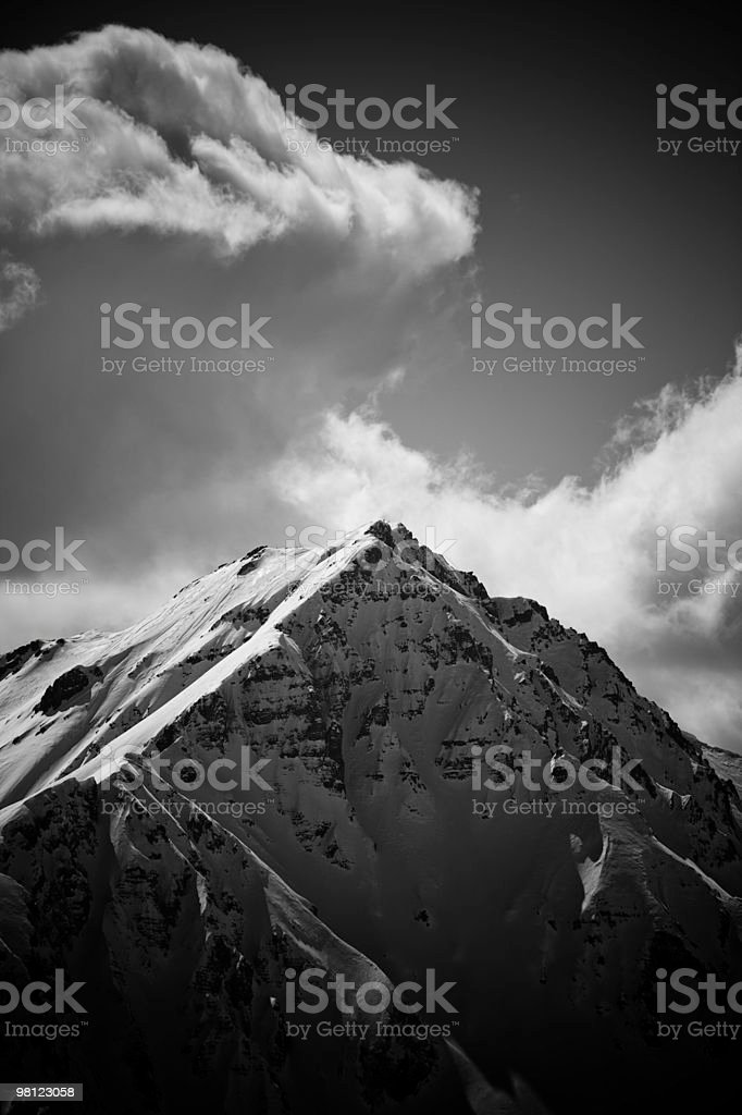 Summit in winter royalty-free stock photo