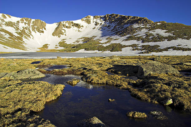 Summit Lake Landscape Near Mount Evans, Colorado stock photo