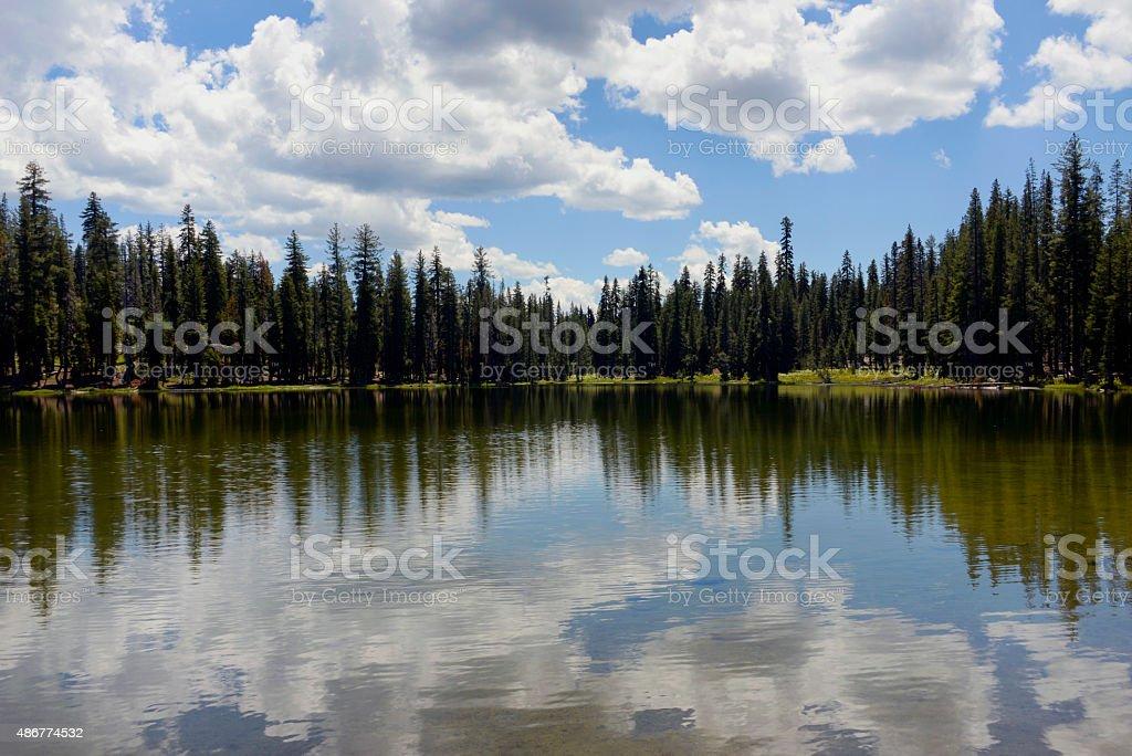 Summit Lake Lassen National Park, California stock photo