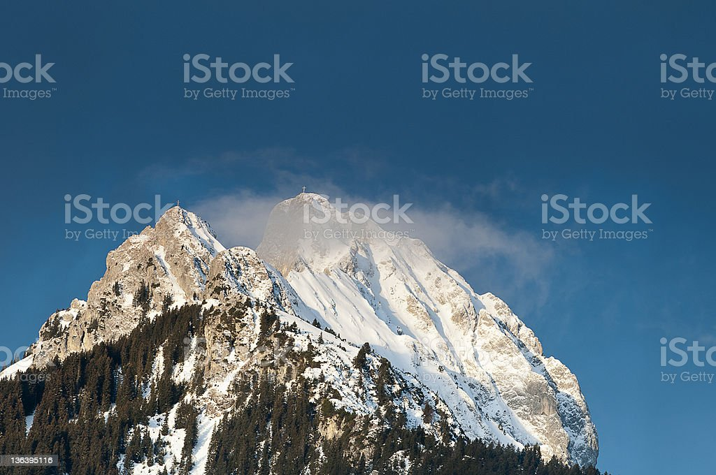 summit of a Tyrolean mountain royalty-free stock photo