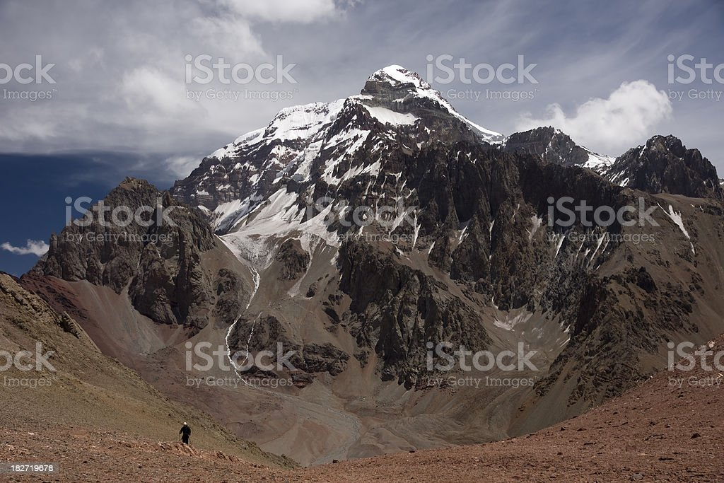 Summit of Aconcagua, Andes, Argentina royalty-free stock photo