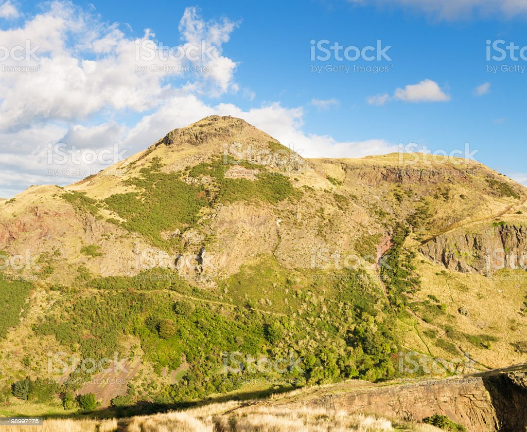 Summit of Arthur's Seat in Edinburgh stock photo