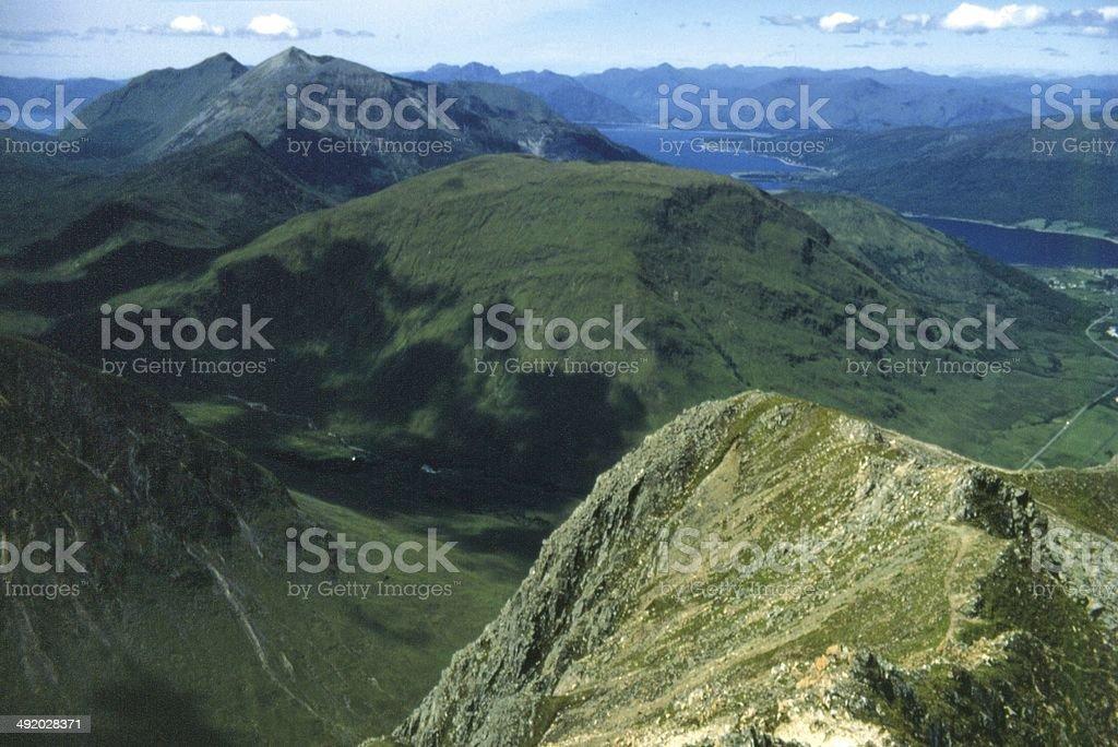 Summit of Bidean Nam Bian Glencoe looking to Ardgour stock photo