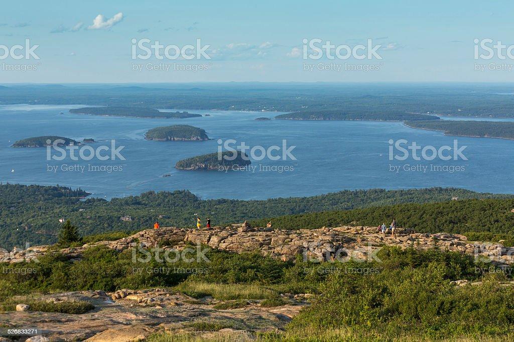 Summit of Cadillac Mountain, Acadia National Park stock photo