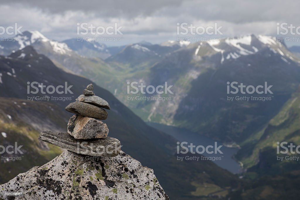 Summit of Dalsnibba stock photo