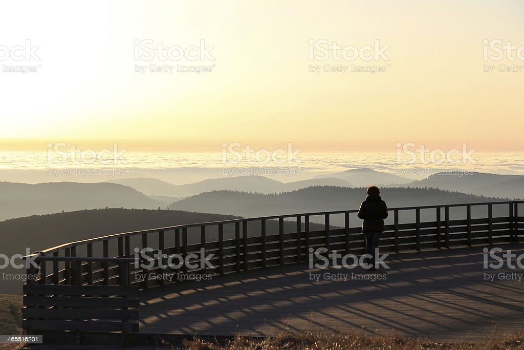 Summit of Hohneck in Vosges stock photo