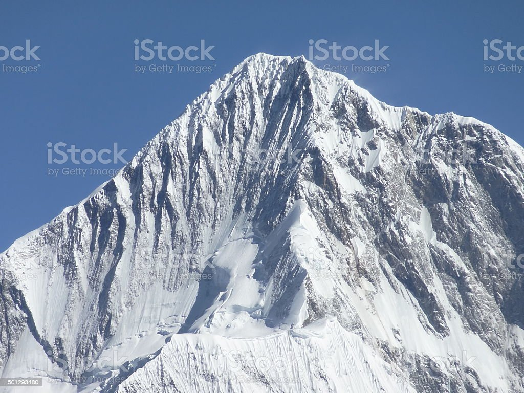 Summit of Minya Konka (7556 m), Tibet, Sichuan, China stock photo