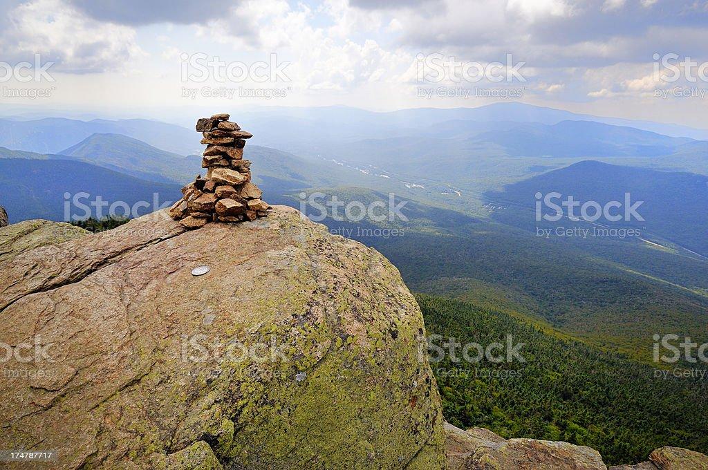 Summit of Mt. Liberty on Franconia Ridge stock photo