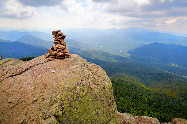 summit of mt. liberty on franconia ridge - mike cherim stock pictures, royalty-free photos & images