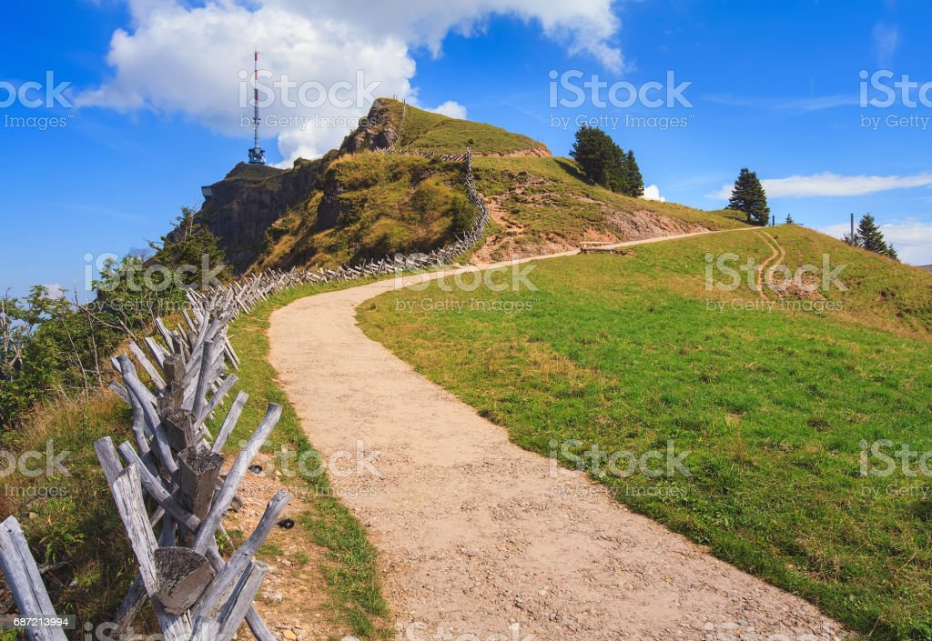summit of mt rigi in switzerland stock photo more pictures of