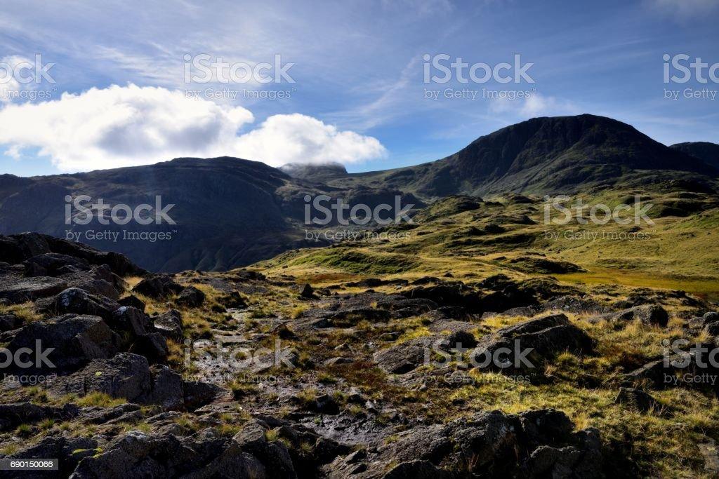 Summit of Seathwaite Fell stock photo