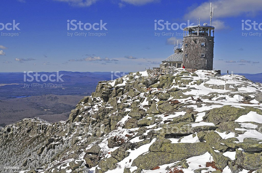Summit of Whiteface Mountain, Adirondacks, New York, USA stock photo