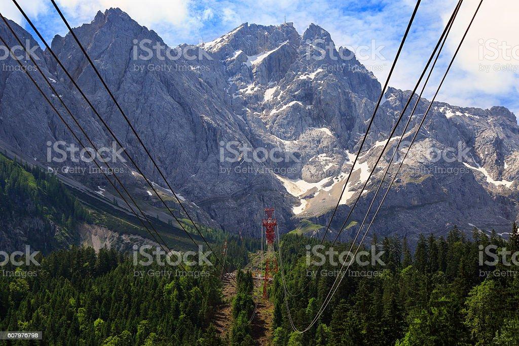 Summit of Zugspitze Mountain, Germany stock photo