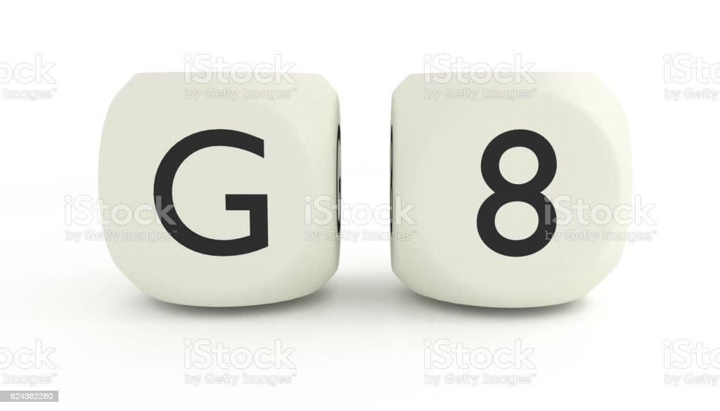G8 summit stock photo