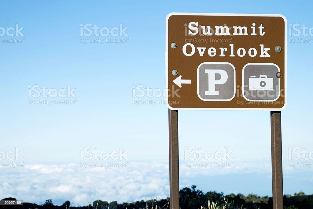 Summit Sign royalty-free stock photo