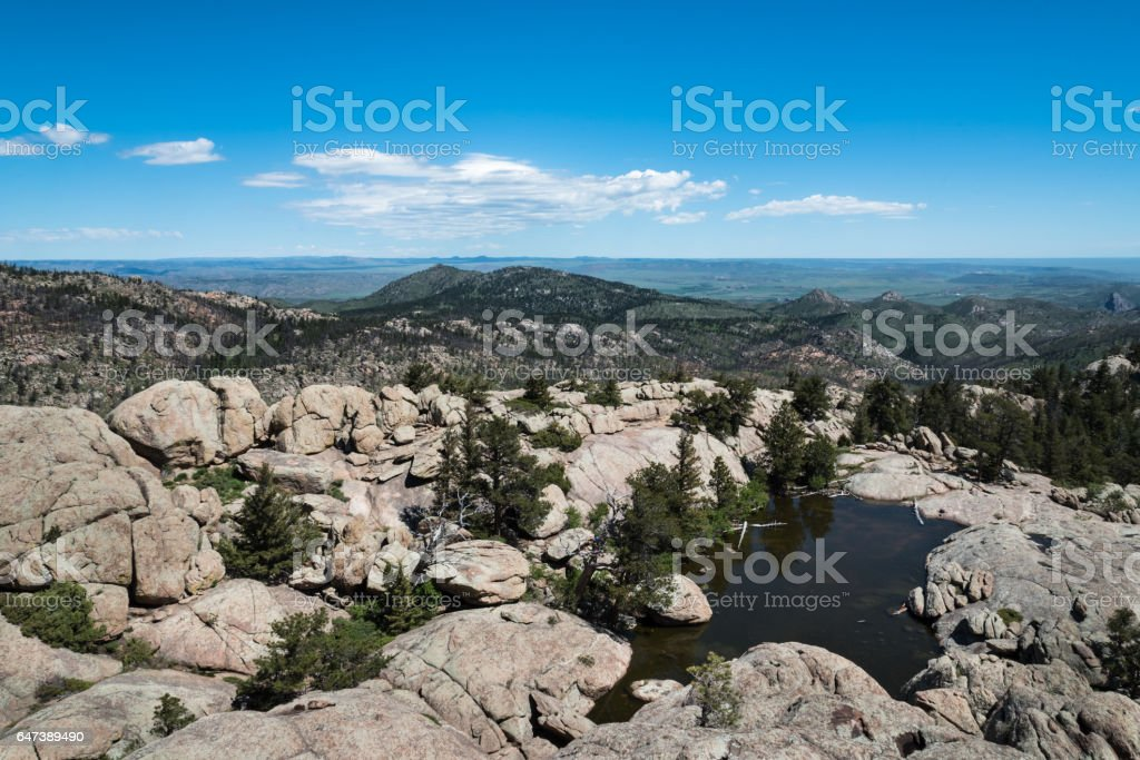 Summit View from Greyrock, Poudre Canyon, Colorado stock photo